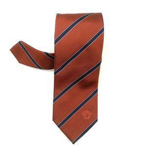 VERSACE Men's Diagonal Stripe Silk Classic Tie